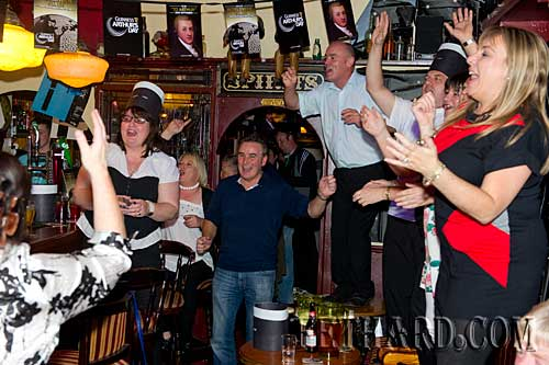 Celebrating Arthur's Day in Lonergan's Bar, Fethard