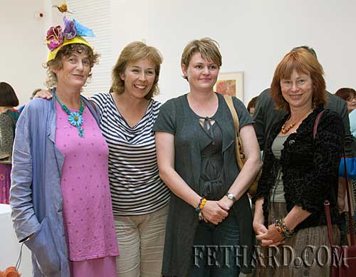 Photographed at the launch of 'Fired by Bees' exhibition are L to R: Dóirín Saurus, Nuala Quirke, Sarah Murphy and Monica McCormick. The exhibition will run in the County Museum Clonmel until the 19th June.