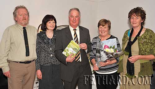 Photographed at the presentation of Fethard Historical Society's 'Tipperariana Book of the Year' award to Liam Ó Donnchú for his book 'Pouldine School - Inné agus Inniu' at the Abymill Theatre are L to R: Terry Cunningham (Chairman Fethard Historical Society), Mary Hanrahan (Fethard Historical Society), Liam Ó Donnchú, Catherine Ó Donnchú and Dóirín Saurus (Fethard Historical Society). This year's Tipperariana Book Fair takes place on Valentine's Day, 14th February from 2pm to 6pm at Fethard Ballroom.