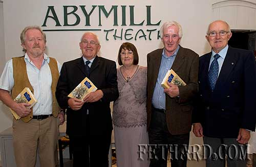Photographed at the launch of Michael O'Donnell's book 'Fethard, Co. Tipperary 1200-2000' are L to R: Terry Cunningham (Chairman Fethard Historical Society), Michael O'Donnell (author), Kitty O'Donnell, Dr. Willie Nolan (Geography Publications) and Tony Newport who officially launched the book.