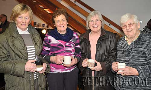 Photographed at the presentation of Fethard Historical Society's 'Tipperariana Book of the Year' award to Liam Ó Donnchú for his book 'Pouldine School - Inné agus Inniu' at the Abymill Theatre are L to R: Margaret Flanagan, Diana Stokes, Ann Lynch and Kitty Delany.