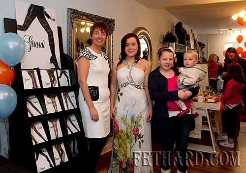 Photographed at the official opening of Jaruso Boutique in Fethard are L to R: Lynn Cummins, Ruth Kelly, Ava O'Riordan and Sophie O'Riordan