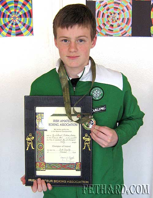 Fethard's Jack Connolly, one of the many boxing stars to compete in Fethard Ballroom on Sunday 24th January