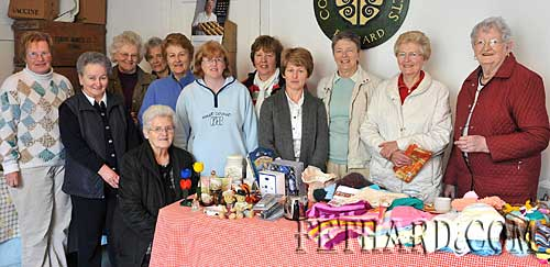 Helping out at the 'Bric-à-Brac' sale and raffle held in the Town Hall in aid of the Presentation Sisters' Mission in Zimbabwe and Fethard Senior Citizens Club are L to R: Margaret Carrick, Alice Lawrence, Agnes Evans, Mary Butler (seated), Noreen Allen, Nell Broderick, Rosemary Purcell, Ann Darcey, Mary Healy, Sr. Winnie, Phil Wyatt and Annie O'Brien.