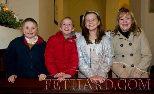 Photographed at the Carol Service held at Holy Trinity Church of Ireland in Fethard are L to R: Georgina Murray, Zoë Stokes, Maresa Ronan and Lorraine Baude.