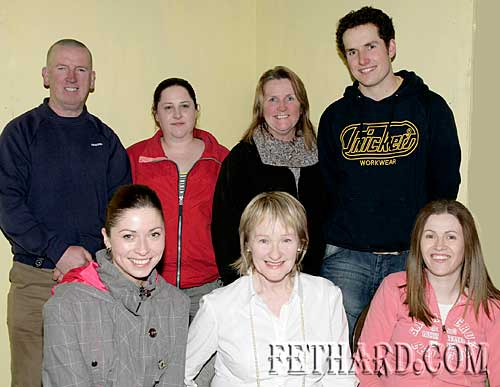Cast of 'Pray for us Sinners' at rehearsal Back L to R: Gerry Dorney, Nicola Condon, Anne Williamson (director), Noel Clancy. Front L to R: Michelle Carey, Esther Byrne and Rachael Culligan.