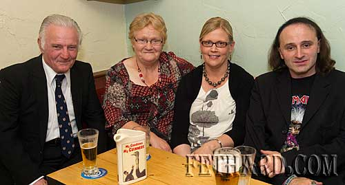Photographed at 'The Sons of Erin' gig at The Castle Inn are L to R: Pat Gunne, home on holidays from England, his sister Kathleen Connolly, Mary (Connolly) Shelly and John Gunne.