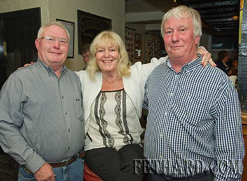 Photographed at 'The Sons of Erin' gig at The Castle Inn are members of the Purcell family L to R: Michael Purcell, Mary Purcell and Jimmy Purcell.