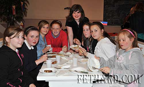 Photographed at Nano Nagle's 'A Taste of the Orient' held at Fethard Youth Centre as part of their Challenge to Change project are L to R: Sadie McGrath, Alannah Coady, Amy Tynan, Niamh Shanahan, Jade Callanan, Lily Dalton, Nicola Thompson and Chloe Burke.