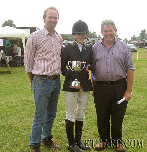 Charlotte Blackmore who won the Kilcooley Cup is pictured  with her father Charles and Pat Walsh D.C. of the Tipperary Hunt Pony Club at the One Day Event held at Grove on Saturday 24th July 2010