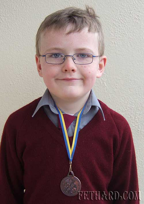 Matthew Burke winner of a bronze medal in U8 Art at Co Final of Tipperary Community Games.
