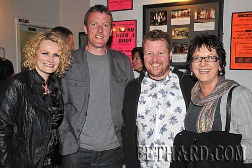 Photographed at the Mick Flannery concert in the Abymill Theatre are L to R: Jen McManus, Maurice Reynolds, Gary McManus and Maree O'Malley.