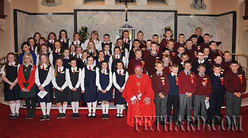 Boys and girls from the parish of Fethard and Killusty who were confirmed by Dr. Dermot Clifford, Archbishop of Cashel and Emly, in Holy Trinity Parish Church, on Thursday 22nd April.