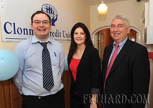 Fethard Branch staff members L to R: Paul Halley, Martina Barry and Paul Davey (Manager) photographed at the official opening of the Fethard Branch of Clonmel Credit Union on Friday 4th June.