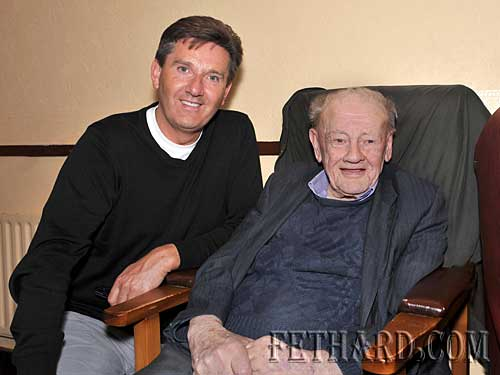 Irish singer Daniel O'Donnell photographed with Paddy Cormack, Fethard.