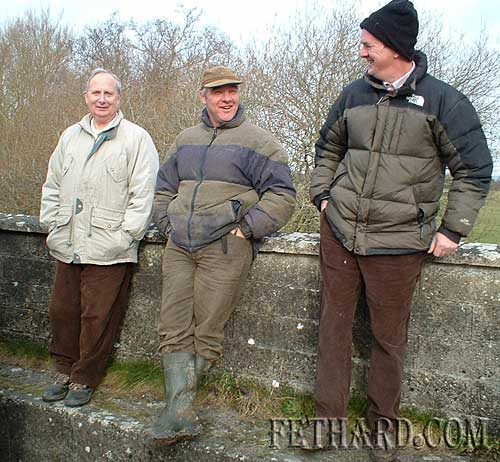 Out hunting on Sunday last with the Ballyluskey White Heather Harriers were L to R: Paddy Clancy, Donnie Slattery and Derek Walsh