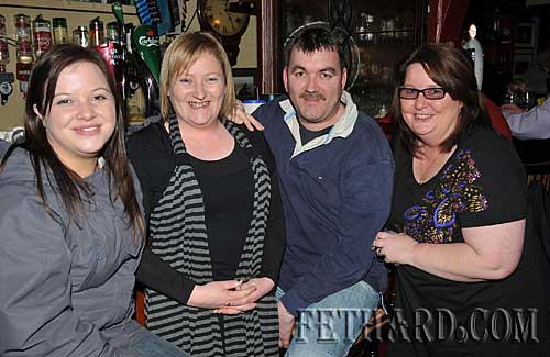 Photographed at the recording of 'Down Your Way' at Lonergan's Bar in Fethard last weekend are L to R: Patrice Tobin, Deirdre Dorney, Michael Lyons and Joan Carroll. The programme will be broadcast on Tipp FM on this Thursday 11th February from 7pm to 8pm.