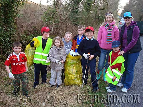 Children joining in the fun during the big 'clean-up' at Drundeel last week.
