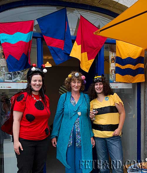 Photographed at the Official Opening of Fired by Bees Exhibition at Fethard Medieval Festival are L to R: Labhaoise McKenna (Heritage Office South Tipperary County Council), Dóirín Saurus (Crampscastle Pottery) and Gemma Byrne.