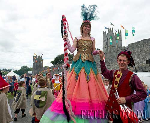 Fethard Medieval Festival Parade making its way to the Town Wall