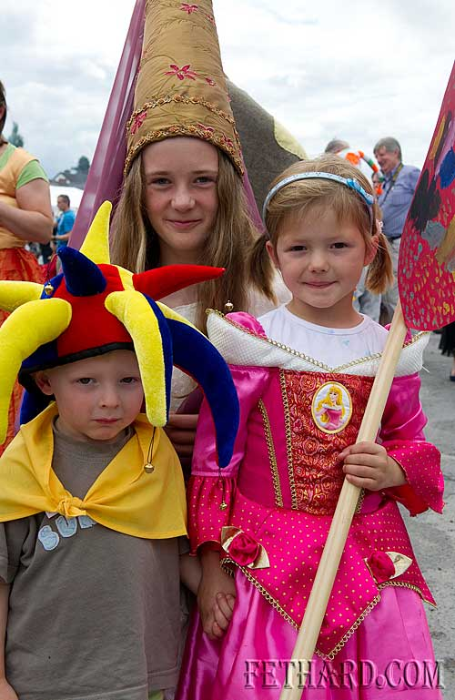 Jack, Jessica and Caroline Stokes taking part in the Fethard Town Wall Medieval Festival Parade