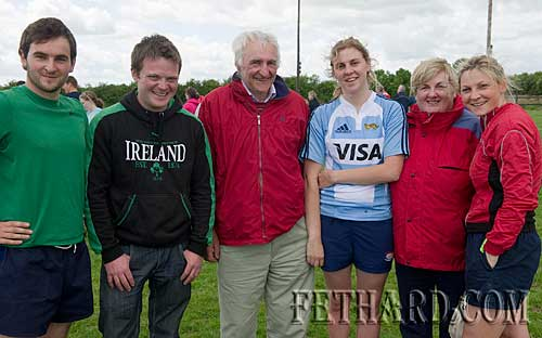 Photographed at the Fethard Macra Field Day at Fethard Community Field on Sunday last. L to R: David Kennedy, Mike Moclair, Jim Kennedy, Elaine Kennedy, Noreen Kennedy and Geraldine Kennedy