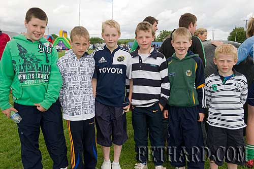 Photographed at the Fethard Macra Field Day at Fethard Community Field on Sunday last. L to R: Cathal O'Donnell, Matthew Lynch, Andrew Phelan, Jason Ryan Darragh Lynch and Gavin Ryan,