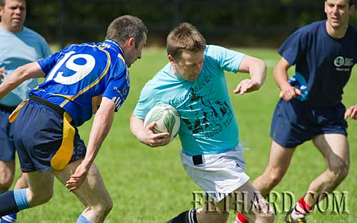 Action from the tag-rugby competition
