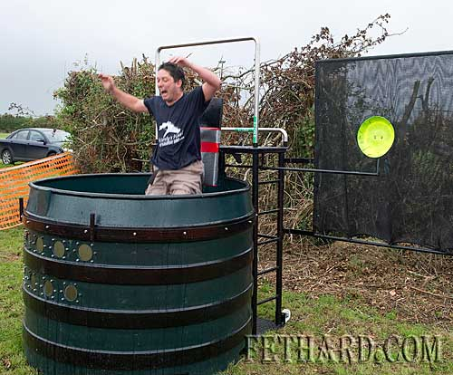 Vinny Murphy being dunked in the 'Dunk Tank' at Fethard Community Family Field Day