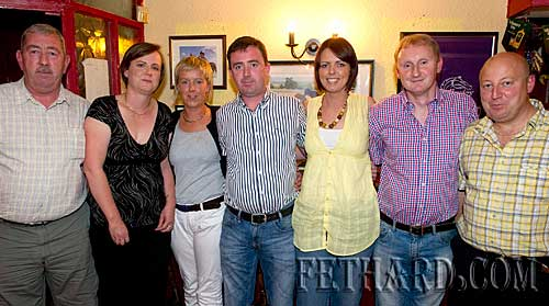 Photographed at the fundraiser for the Paul Barrett Fund in Butler's Sports Bar are L to R: Thomas McCarthy (Paul's uncle), Aisling Barrett, Jill Ryan (sister), Kevin Barrett (brother), Laoise McCarthy, Shay Ryan and Shane Masterson.