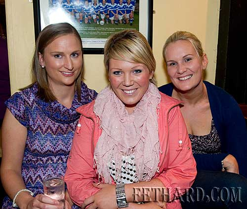 Photographed at the fundraiser for the Paul Barrett Fund in Butler's Sports Bar are L to R: Miriam Carroll, Sara Standbridge and Aoife O'Meara.