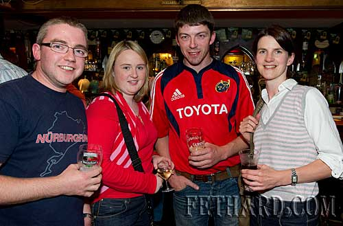 Photographed at the fundraiser for the Paul Barrett Fund in Butler's Sports Bar are L to R: Paul Barry, Fiona O'Brien, Noel Barry and Yvonne Purcell