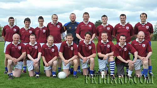 Fethard's 2001 County Champions team who took on the 1991 County Football Champions in a challenge game as part of the Fethard GAA Club's La na gClub celebrations held on Sunday 9th May in the GAA Field. Back L to R: John Paul Looby, Michael Carroll, Frankie O'Donovan, Brian Burke, Paul Fitzgerald, P.J. Aherne, Tommy Gahan, Stephen O'Donnell, Cian Maher. Front L to R: Tom Anglim, Jimmy O'Meara, John Neville, Michael Quinlan, Mickie Aherne, John Fitzgerald, Keneth O'Donnell and Philly Prout.