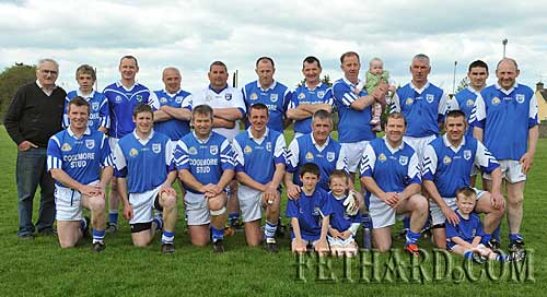 Fethard's 1991 County Champions team who took on the 2001 County Football Champions in a challenge game as part of the Fethard GAA Club's La na gClub celebrations held on Sunday 9th May in the GAA Field. Back L to R: Jimmy O'Shea, Jody Sheehan, Martin Ryan, Philly Blake, Tom McCarthy, Miceál Spillane, Michael Ryan, Michael O'Riordan holding baby Sophie, Chris Coen, Brian Coen, Philly Prout. Front L to R: Willie O'Meara, Willie Morrissey, Michael Fitzgerald, Tommy Sheehan, Shay Coen with Ben and Jake Coen, Brendan Brett and Martin Coen with Matt Coen