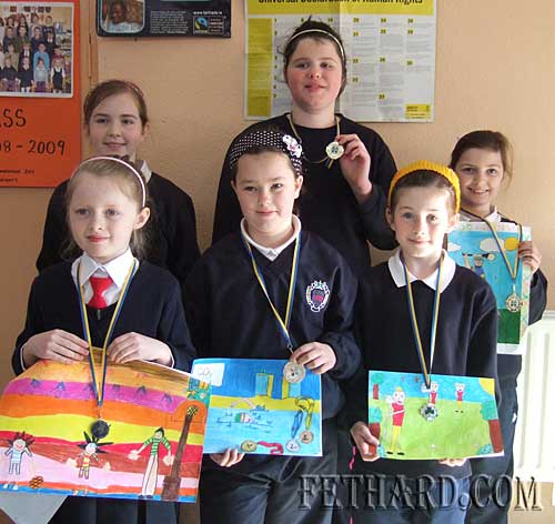 Pupils from Nano Nagle School who won medals at Community Games Area Art Final: Back L to R: Sadhbh Horan, Jade Callanan, Ciara Hayes. Front L to R: Jennifer Phelan, Cassandra Needham and Lucy Spillane
