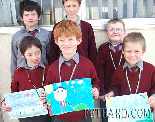 Pupils from St Patricks Boys School Fethard who won medals at Community Games Area Art Final. Back L to R: Jonathan Hennessy, Eoin O'Donovan, Matthew Burke. Front L to R: Patrick Shine, Cathal O'Mahony and Shane Neville.