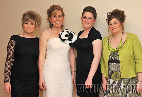 Modelling at the 'Girls Night Out' at Fethard Youth Centre were L to R: Laura Rice, Siobhán Burke, Anita Norris and Helena O'Shea.
