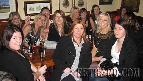 Claire Kennedy, Kilsheelan, celebrating her 30th birthday with friends at Lonergan's Bar, Fethard.