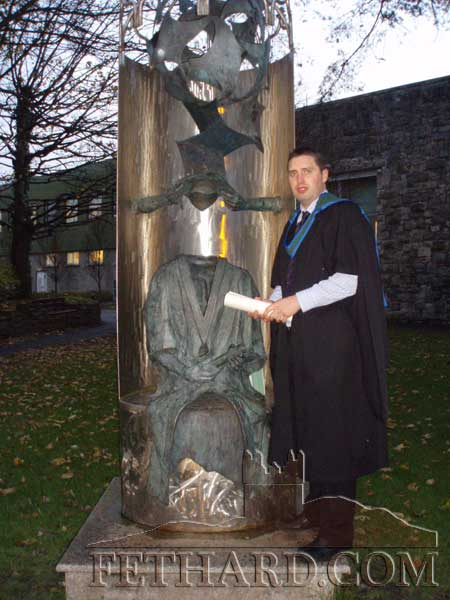 Congratulations to Brian Kenny, St. Patrick's Place, Fethard, who recently graduated from NUI Galway with a  Master of Arts Degree in Film Studies - Culture and Society.