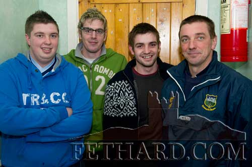 Photographed at the AGM of Fethard GAA Club were L to R: Edmond Sheehan, Jamie McCormack, Chris Sheehan and Tommy Sheehan.