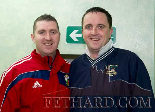 Photographed at the AGM of Fethard GAA Club were L to R: Shane Kenny and Gerry Aherne.
