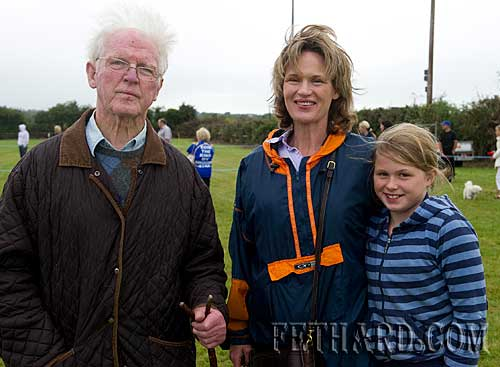 The late Joe O'Connor, Knockelly, photographed at Fethard Community Family Field Day on 12th September with his daughter Sophie Wall and granddaughter Dorothy Wall.