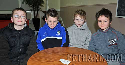 Taking part in the Fethard Area Community Games Table Quiz at Fethard Youth Centre were L to R: Harry Butler, Jack Ward, Liam Quigley and Jesse McCormack.