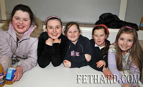 Taking part in the Fethard Area Community Games Table Quiz at Fethard Youth Centre were L to R: Jade Callanan, Alannah Coady, Emma Keating, Sandra Needham and Sadie McGrath.