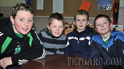 Taking part in the Fethard Area Community Games Table Quiz at Fethard Youth Centre were L to R: Alex O'Donovan, Dean Dorney, Conor Mackey and Mike Earl.