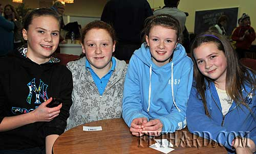 Taking part in the Fethard Area Community Games Table Quiz at Fethard Youth Centre were L to R: Amy Tynan, Niamh Shanahan, Katie Butler and Jessie McCarthy.