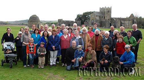 Members of Fethard Historical Society photographed on their visit to Kilcooley Abbley last weekend