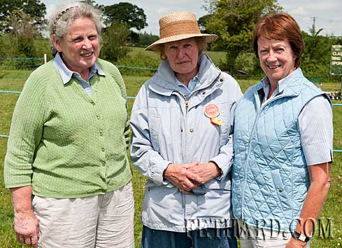 Photographed at Killusty Pony Show are L to R: Betsy O'Connor, Norma Cooke and Mary Holohan