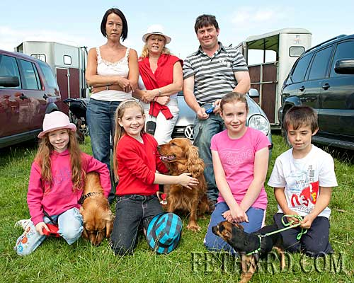 Photographed at Killusty Pony Show are Back L to R: Fiona Slattery, Jackie Horan, Richie Horan. Front L to R: Aoifa Horan, Ciara Horan, Eimear and Cathal Slattery