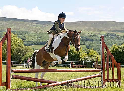 Annie Kavanagh jumping at Killusty Pony Show